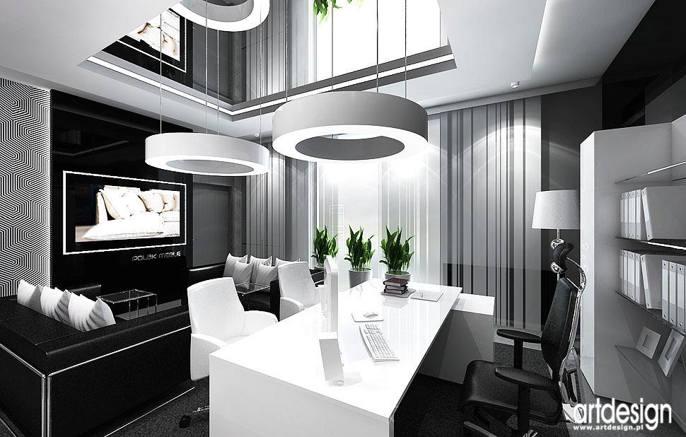 projekty biur wnetrza design aranzacje
