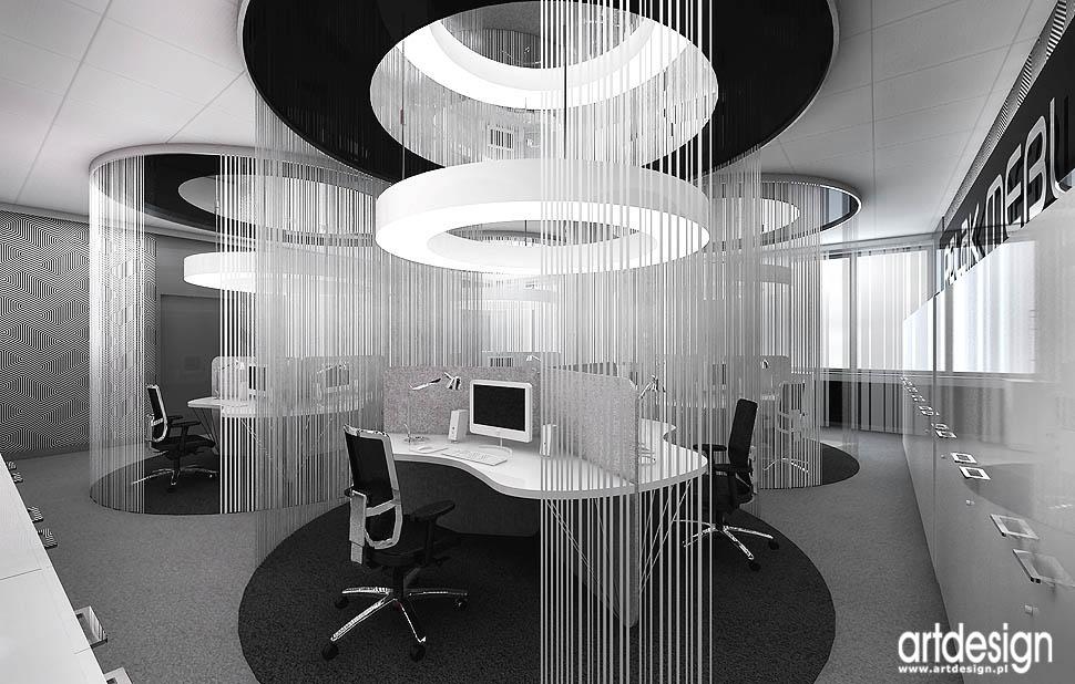 open space wnetrza biur projekty nowoczesny design