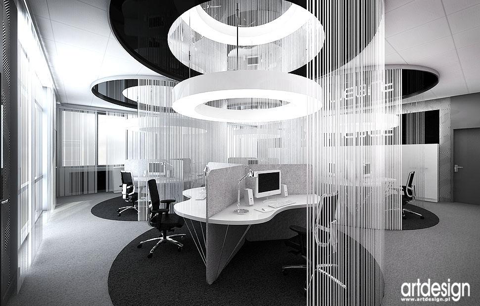 nowoczesne wnetrza biur open space design