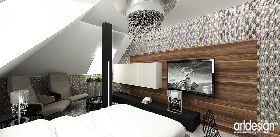projekty wnetrz pokoj goscinny sypialnia