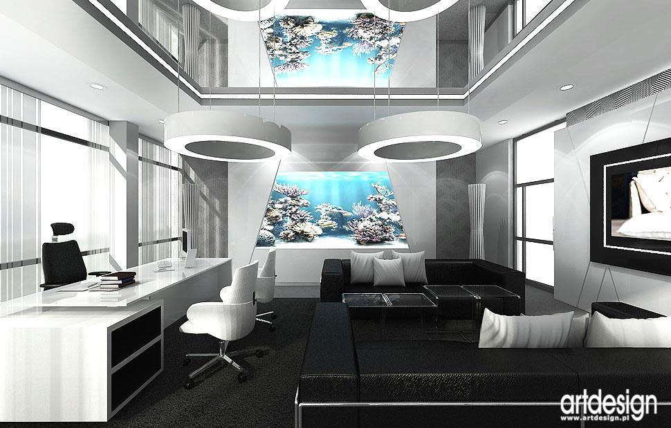biura wnetrza luksusowe gabinety prezesow zarzadu projekty