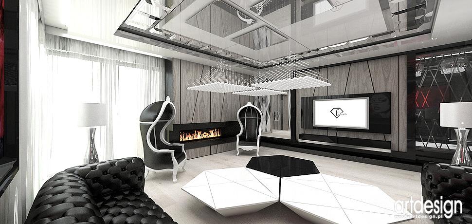 luksusowe projekty wnetrz salon