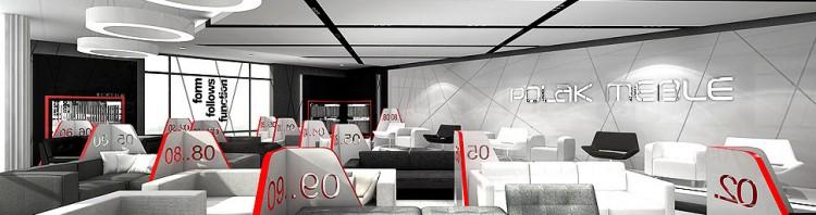 salon sprzedazy mebli sala wystawowa projekt wnetrza showroom