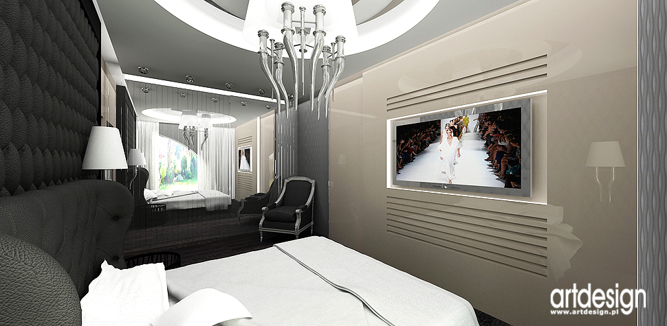 nowoczesny design sypialnia