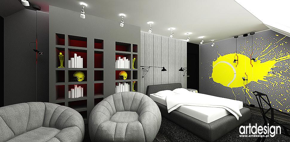 designerski pokoj nastolatka
