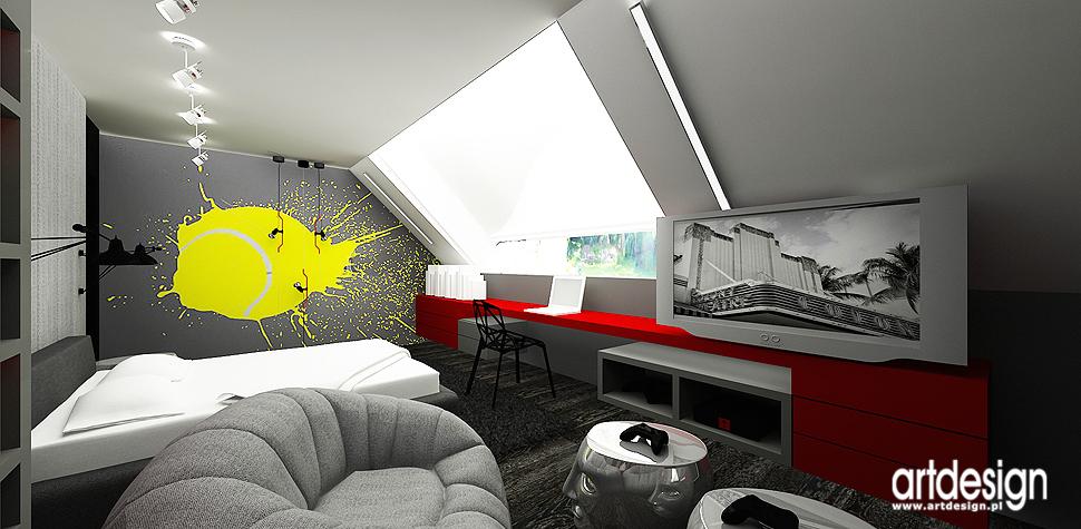 projekty wnetrz pokoju nastolatka
