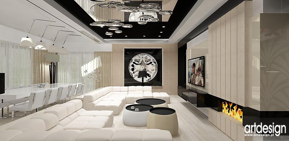 projekty wnetrz designerzy Krakow apartament salon