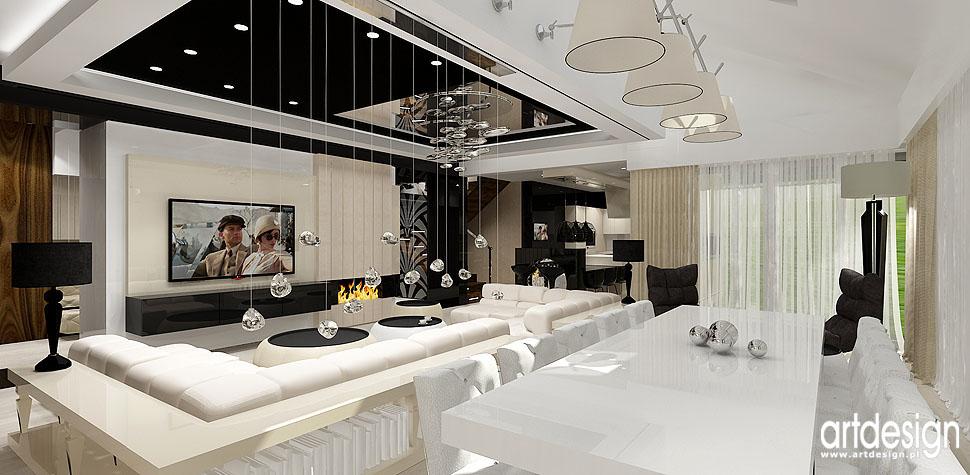 wnetrza aranzacje biura Krakow dom salon z jadalnia
