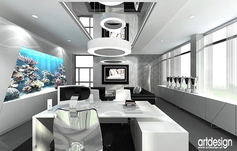 wnetrza gabinetow w biurach luksusowe designerskie
