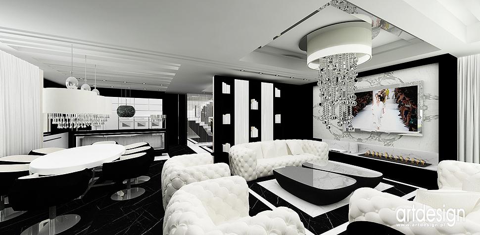 wnetrza design bialo czarne aranzacja domu