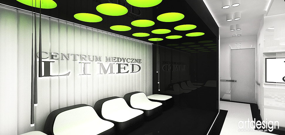 wnetrza gabinetow medycznych aranzacje design nowoczesny