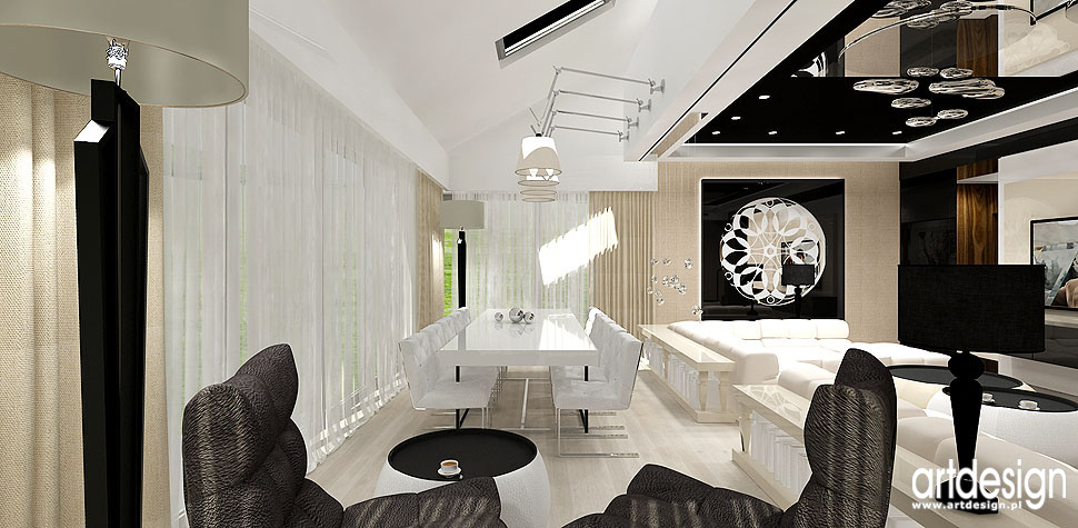 wnetrza projekty biur z krakowa jadalnia salon