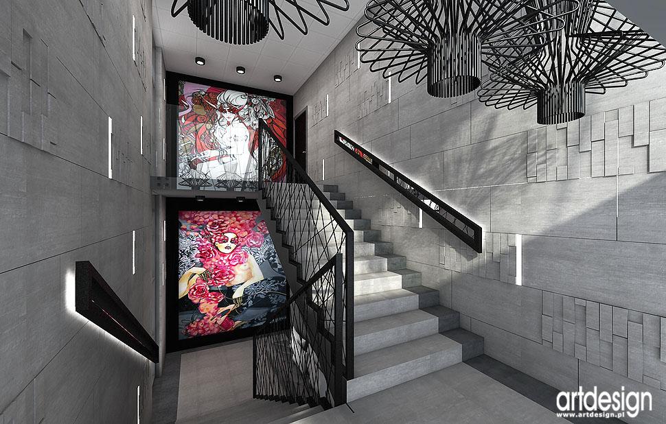 wnetrza biura schody reprezentacyjne projeky