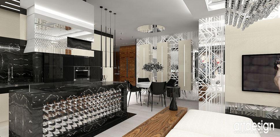 wnetrza aranzacje apartamenty pokoj dzienny z kuchnia
