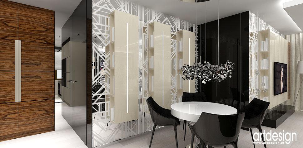 projekty wnetrza doskonale apartament jadalnia