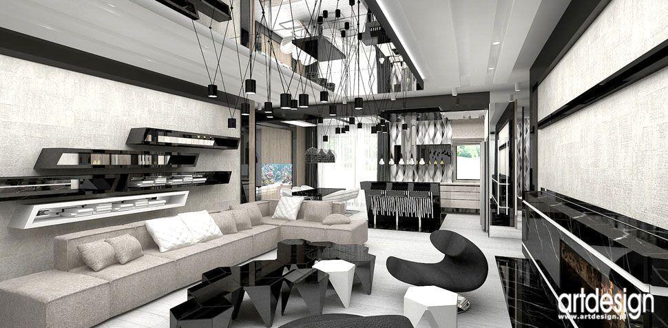 projekty wnętrz nowoczesny dom