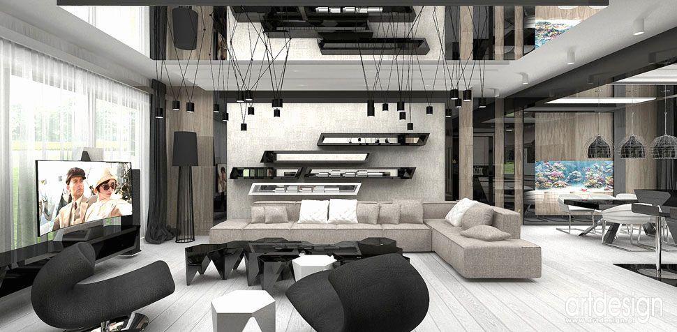 salon oryginalny projekt wnętrza