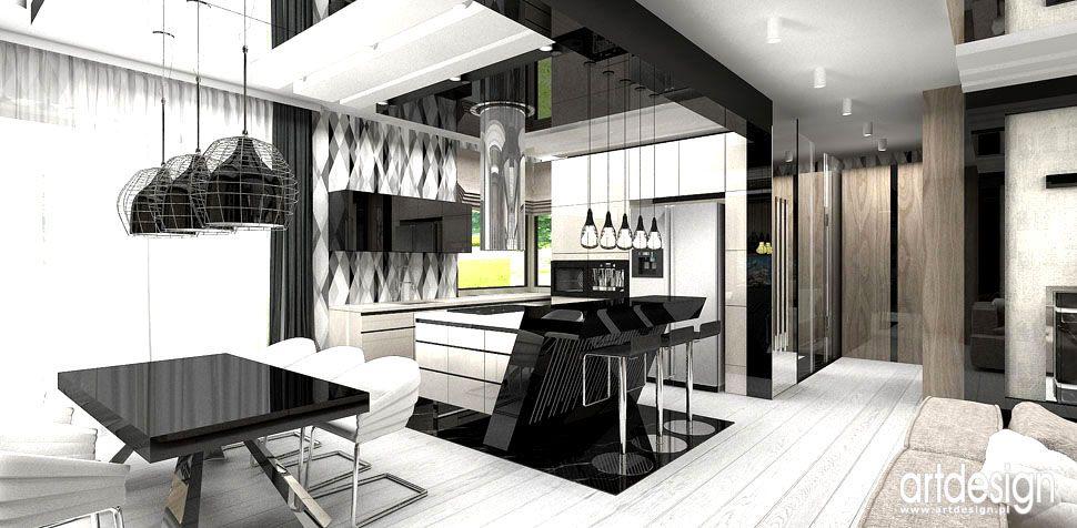 kuchnia otwarta design wnętrz