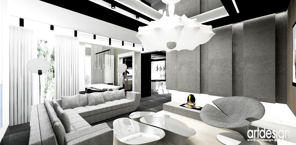 wnetrza minimalistyczne domu