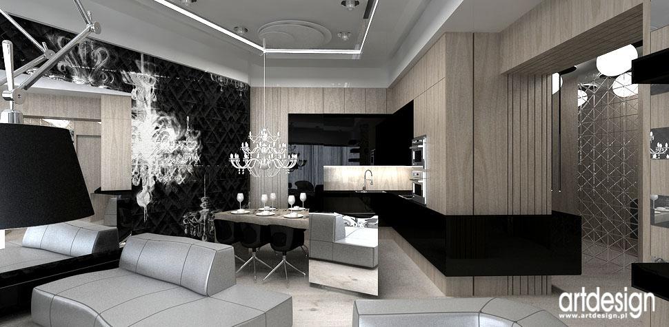 aranzacje wnetrz apartamentow kuchnia