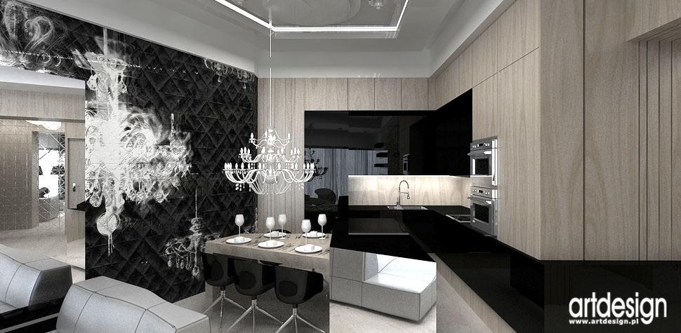 projektowanie wnetrz kuchnia w apartamencie