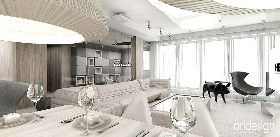 projekty wnetrz apartament salonu