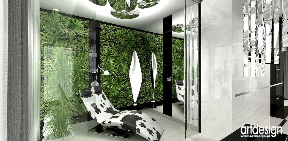 wnetrza green wall projekty
