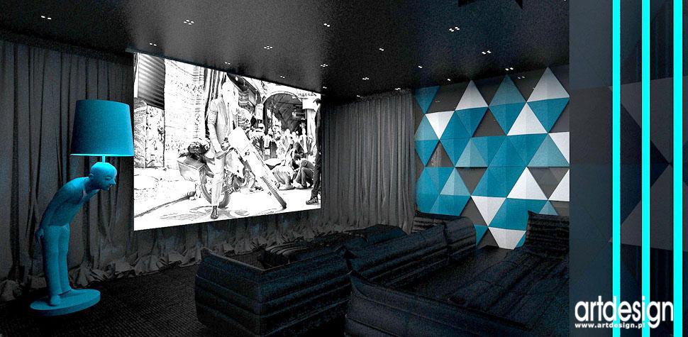 kino domowe aranzacja wnetrza architekci krakow
