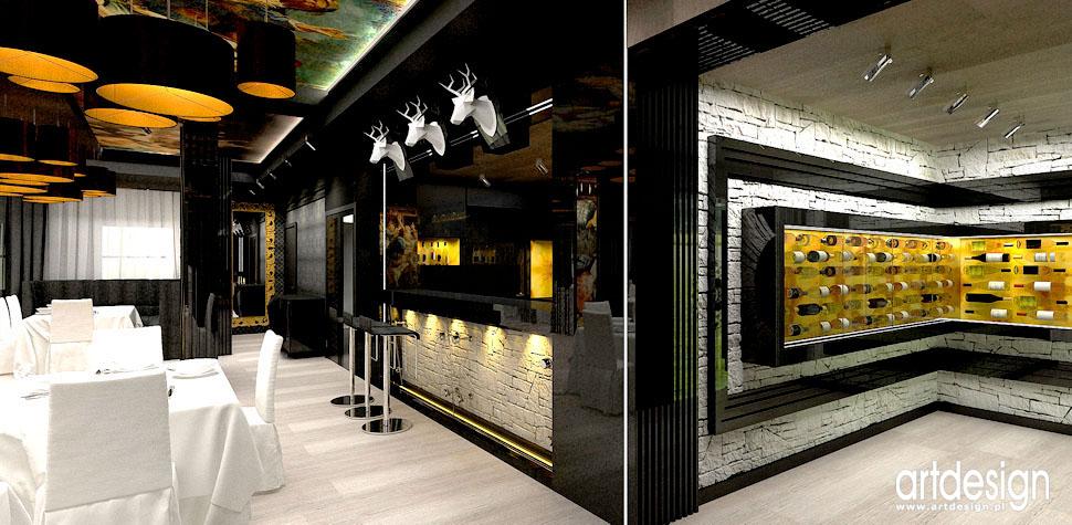 projekty wnetrz luksusowych hoteli restauracji
