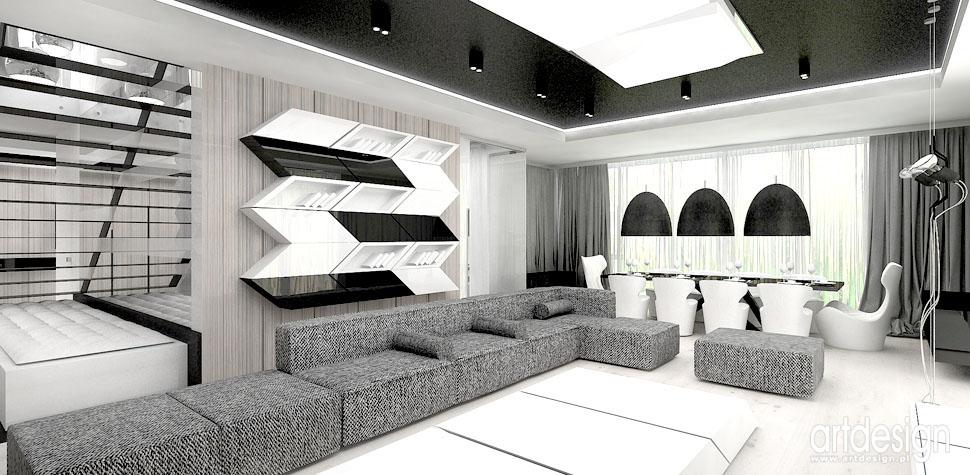 wnetrza domow swiatowy design salon z jadalnia