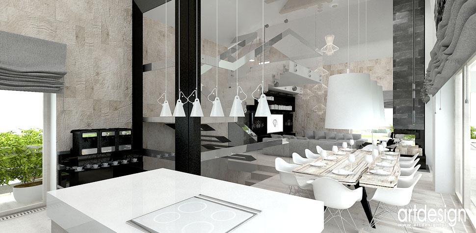 projekt wnetrza dom kuchnia z elementami folk
