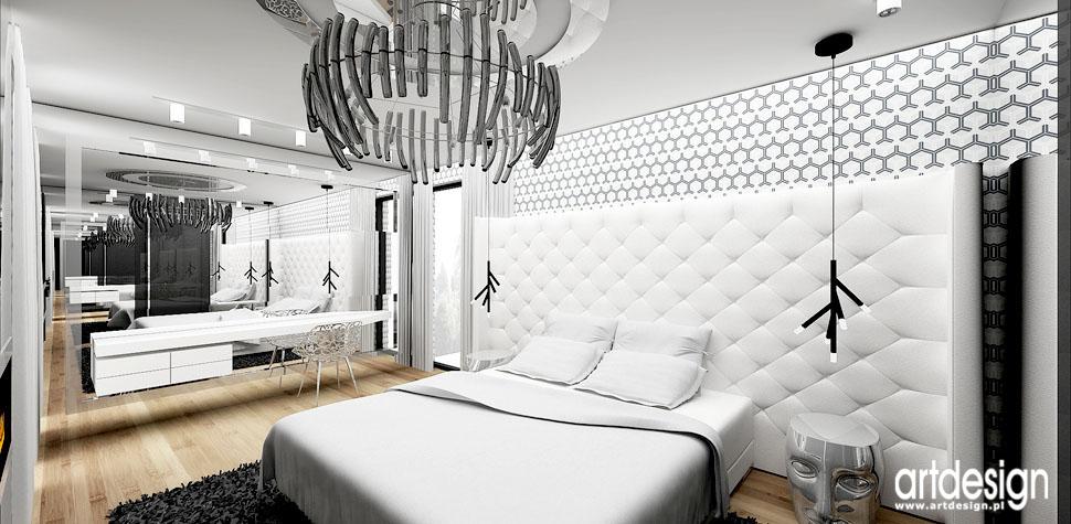 sypialnia z tapicerowanym zaglowkiem wnetrza