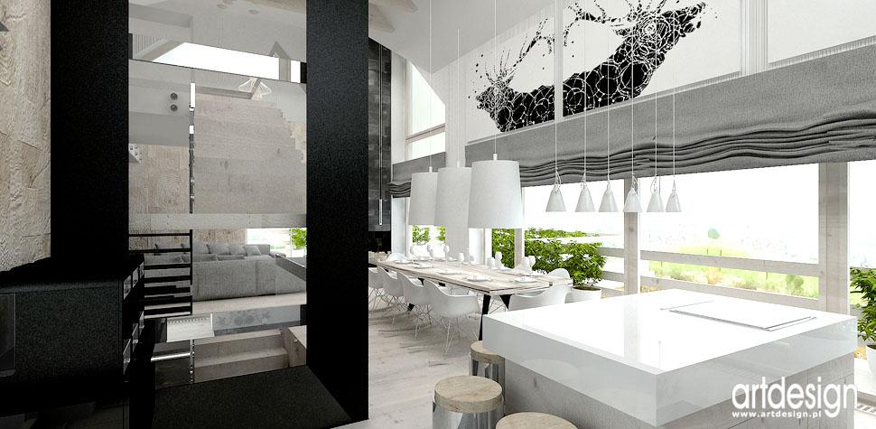 dom w stylistyce folk nowoczesny design