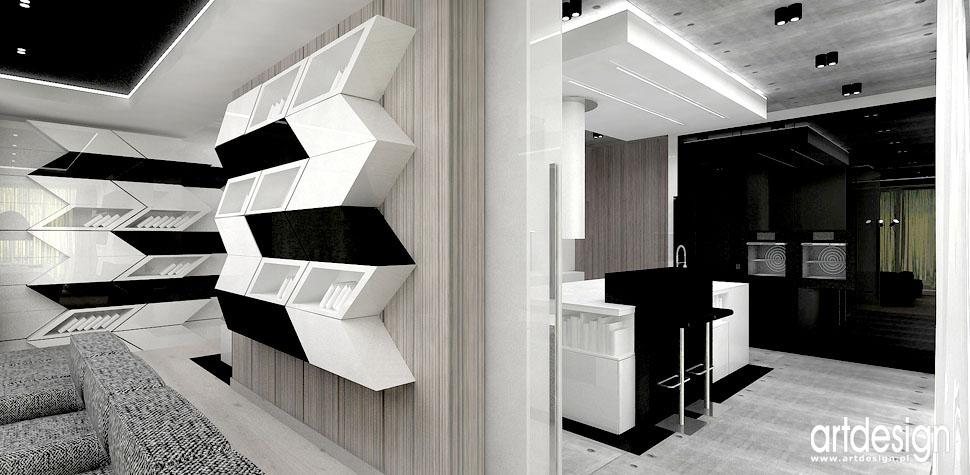 kreatywne wnetrza domow salon z kuchnia