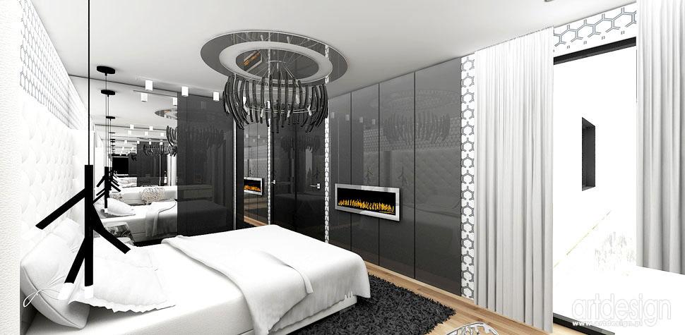 projekt aranzacja sypialnia
