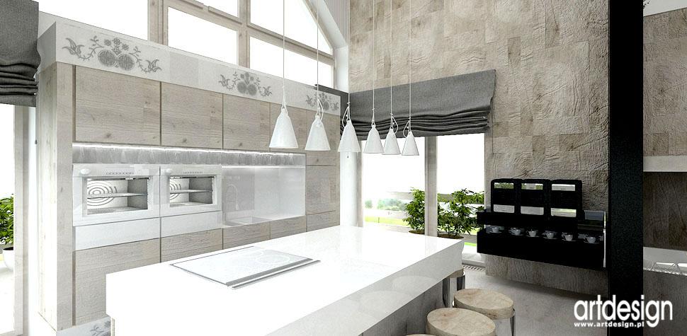 kuchnia dom projekt z elementami folk