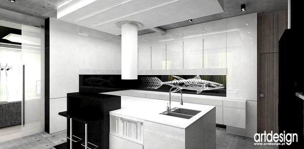 wnetrza polecane biura projektowe kuchnia z wyspa