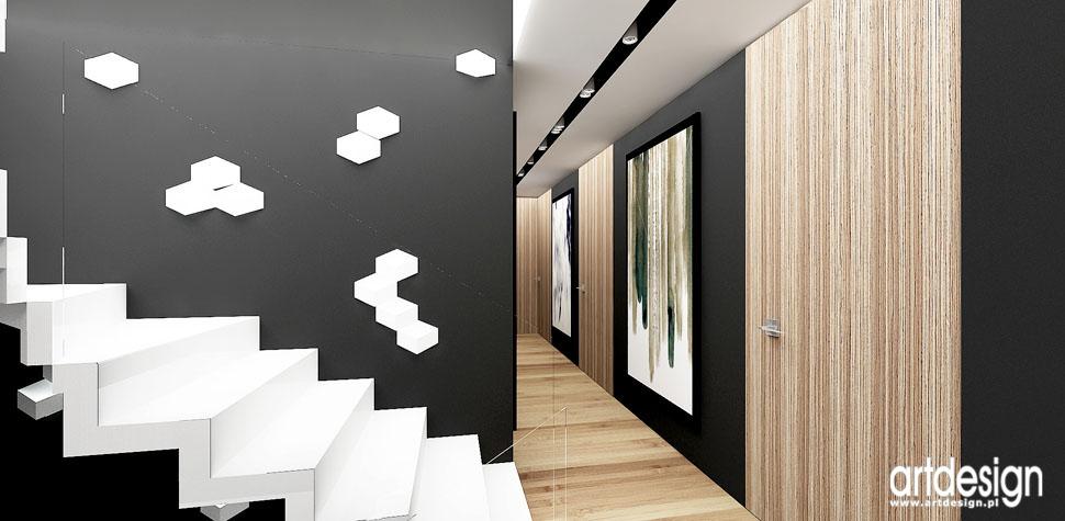 design wnetrza domu hol schody