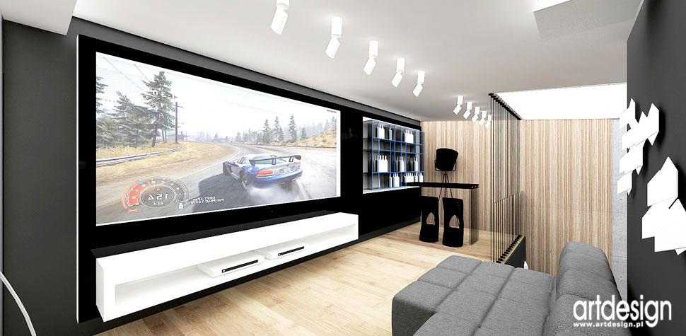 projekty wnetrz domow pokoj telewizyjny