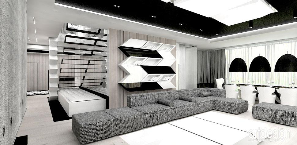 luksusowe wnetrza domow salon