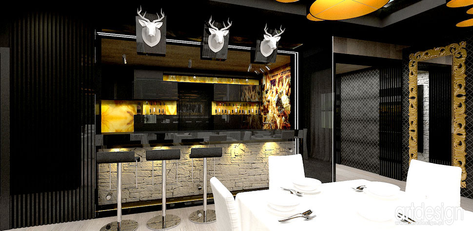 restauracja luksusowe wnetrza projekty Krakow