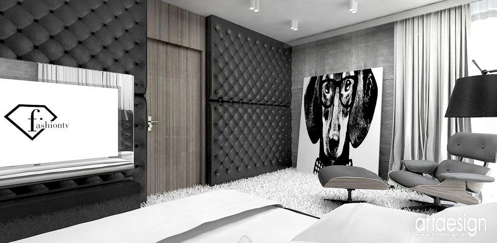 wnetrza projekty design sypialni