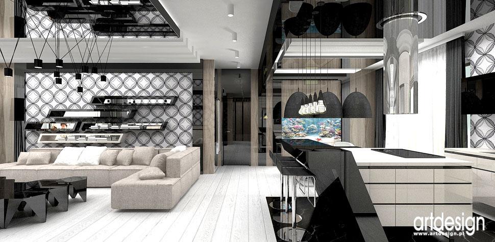 projektowanie wnetrza krakow salon kuchnia