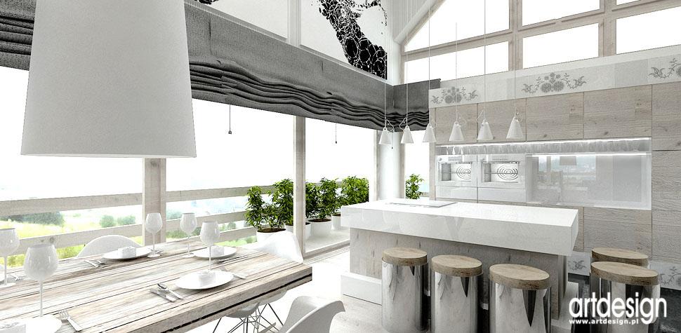 projekty aranzacje wnetrz kuchnie domy