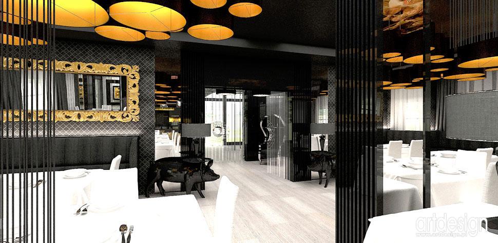 restauracja wnetrze projekt aranzacja architektura