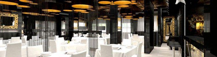 wnetrza oryginalne restauracji projekty aranzacje