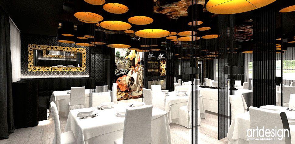 wnetrza restauracji w stylu glamour ekskluzywne eleganckie ponadczasowe