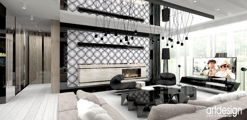 projekty wnetrz domow salon