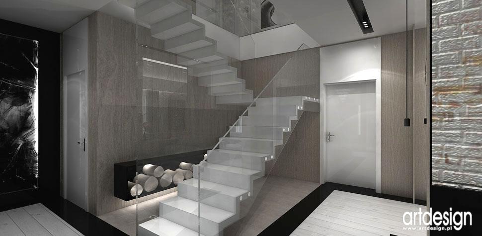 projekt wnetrza domu aranzacja schody dywanowe