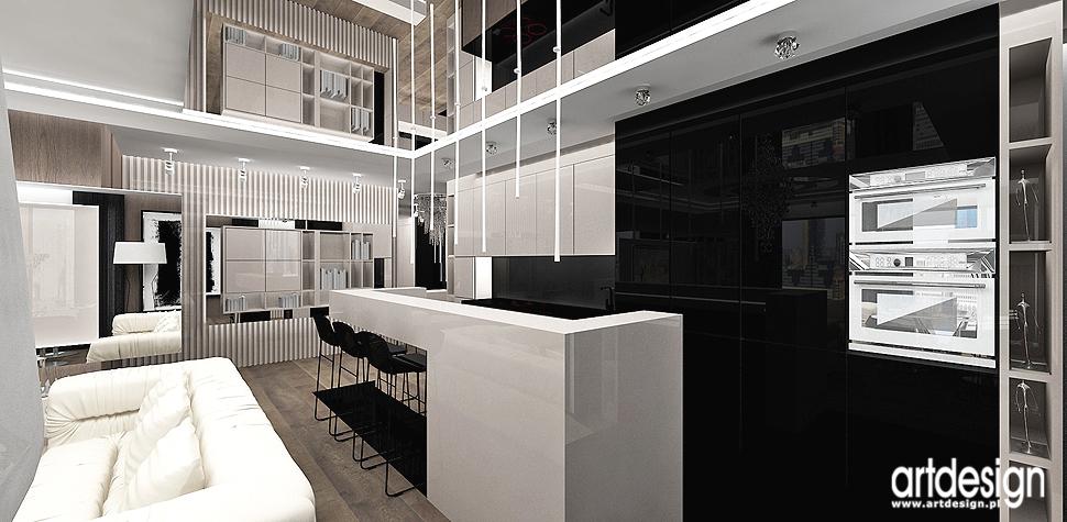 wnetrza apartamenty w stylu nowoczesnym projekty kuchni